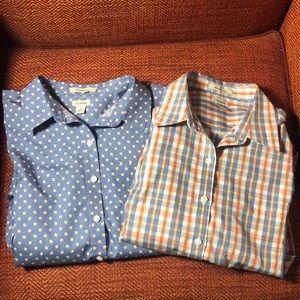 L.L. Bean Wrinkle-Free Oxford Shirt Women's Small
